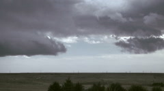 Time Lapse of Gathering Prairie Storm Clouds Stock Footage