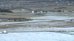 Time Lapse of Snow Melting and Cloud Shaddows Plains Stock Footage