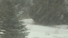 A Small Snow Drift Will Only Get Bigger Stock Footage