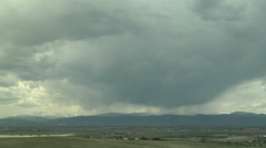 Time Lapse Virga and Downdrafts Colorado Front Range Stock Footage