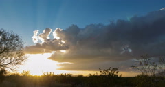 Stock Video Footage of 4K cine 24p glorious September Arizona sunset last of the monsoon time lapse