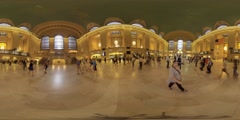 Grand Central Terminal 360 VR tiemlapse Stock Footage