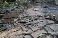Sedimentary rock shale Stock Photos