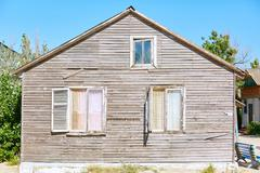 Wooden bungalow on the beach Stock Photos