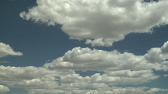 A Day Without a Threat of Severe Weather as marked bt Cumulus Humilis Clouds Stock Footage