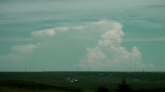 Time Lapse of Distant Thunderhead Over 200 km Away Stock Footage
