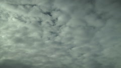 Time Lapse of Classic Altocumulus Clouds Stock Footage