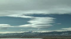 Time Lapse of Standing Mountain Wave Clouds Rockies Stock Footage