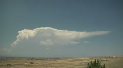 Time Lapse of Classic Anvil from High Plains Supercell Stock Footage