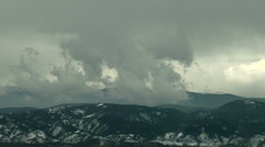 Time Lapse Violent Turbulence as Front Passes Rockies - stock footage
