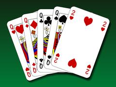 Poker hand - Four of a kind Stock Illustration