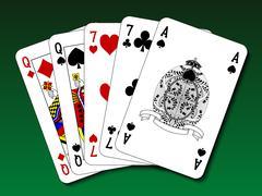Poker hand - Two pair - stock illustration