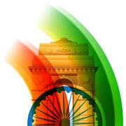 beautiful indian flag design - stock illustration