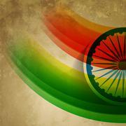 Stock Illustration of grunge style indian flag