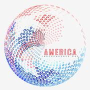 Creative american independence day Stock Illustration