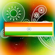 Vector flag of india Stock Illustration