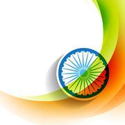 Stock Illustration of stylish indian flag background