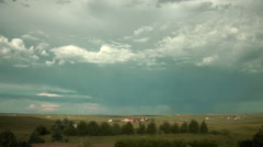 Time Lapse of Clearing after Departing Thunderstorm Stock Footage