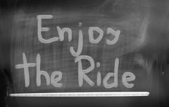 Enjoy The Ride Concept - stock illustration