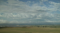 Time Lapse of Low Clouds Boiling over Colorado Plains Stock Footage