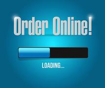 Stock Illustration of Order online loading bar sign concept