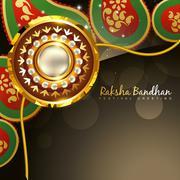 Golden rakhi for rakshabandhan Stock Illustration