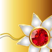 shiny rakhi vector background - stock illustration