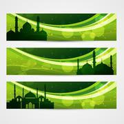 Stock Illustration of beautiful ramadan headers