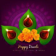 vector diwali diya - stock illustration