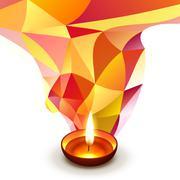 diwali wishes design - stock illustration