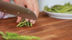 Chopping Kidney beans Stock Footage