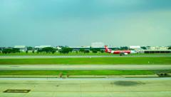 AirlinerTakeoff at Don Mueang International Airport in Bangkok, Thailand Stock Footage