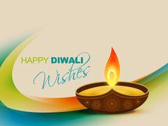 vector diwali festival design - stock illustration
