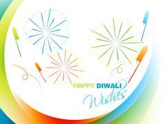Stylish diwali greeting Stock Illustration