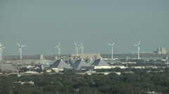 Urban Turbines Stock Footage
