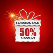 Seasonal sale label Stock Illustration