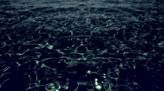 Dark water in moonlight. - stock footage