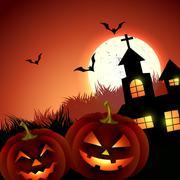 Creepy halloween vector Stock Illustration