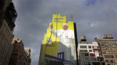Pope Francis NYC Stock Footage