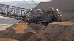 Giant Bucket Wheel Excavator Stock Footage