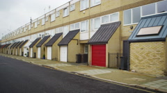 4K Exterior view of residential terraced housing in a London Suburb. Stock Footage