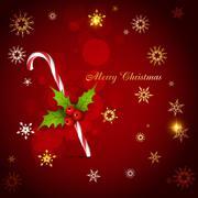 Christmas candy cane Stock Illustration