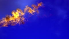 Burning gas torch Stock Footage
