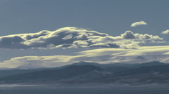 Time Lapse of Rocky Mountain Lee Wave Rotor Clouds - stock footage