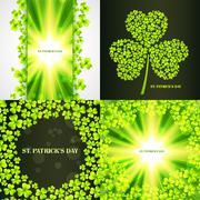 Set of saint patrick's day background Stock Illustration