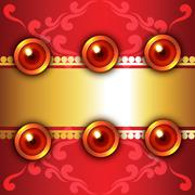 Attractive background of diwali - stock illustration