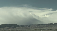 Time Lapse of Downslope Windstorm Clouds in Rockies Stock Footage