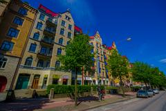 Classic arquitecture in downtown Gothenburg - stock photo