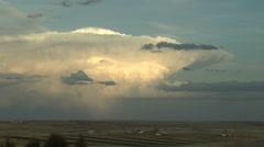 Thunderhead at Sunset Stock Footage