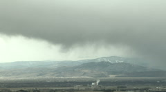 Time Lapse of Snow Descending from Skies onto Colorado Front Range - stock footage